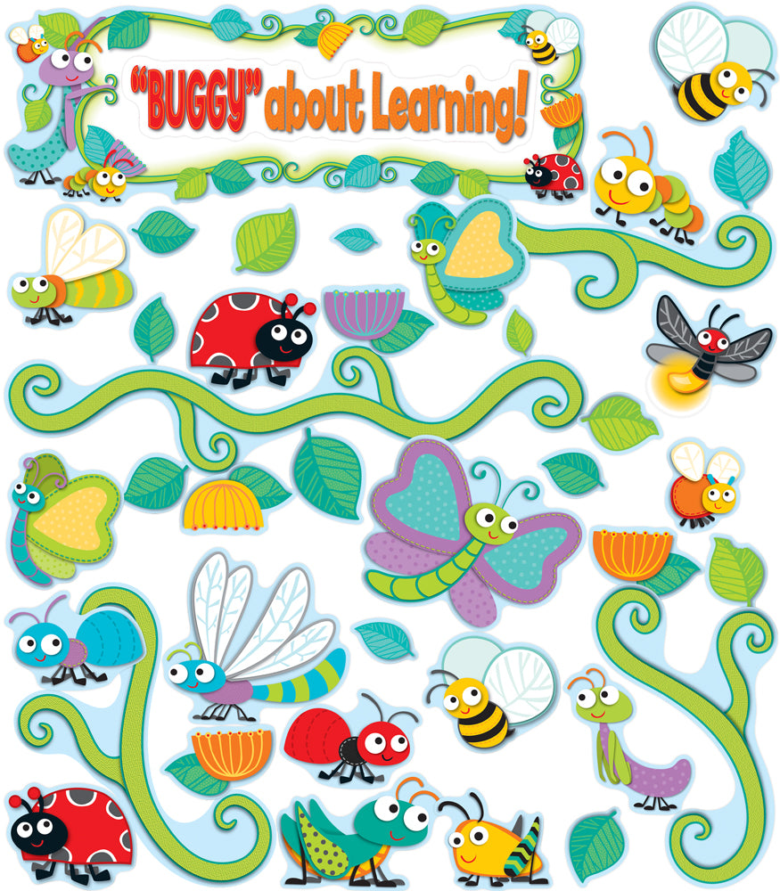 "Carson Dellosa ""Buggy"" for Bugs Bulletin Board Set  CD-110238"