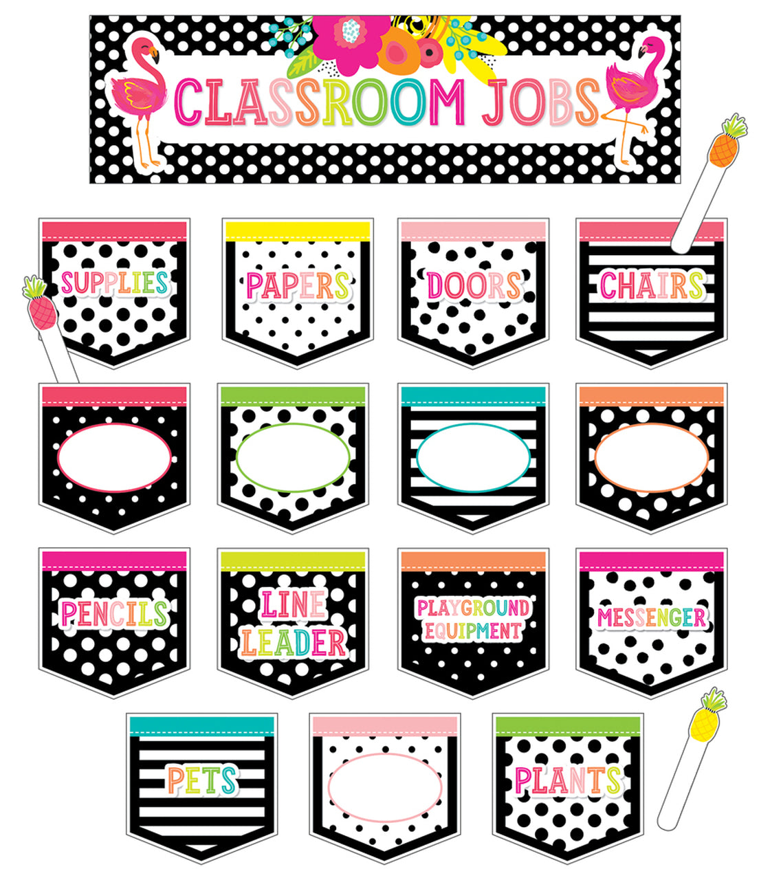 Carson Dellosa Simply Stylish Tropical Classroom Jobs Mini Bulletin Board Set (110465)