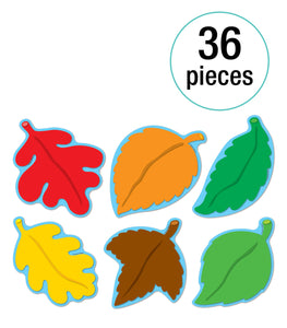 Carson Dellosa Fall Leaves Colorful Cut-Outs Assorted 36 pcs (CD-120080)