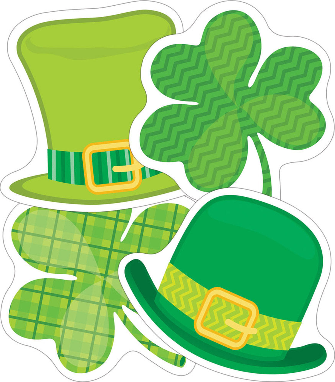 "Carson Dellosa St Patricks Day 3"" Mini Cut Outs, 32 Pieces (CD-120223) Shamrocks"
