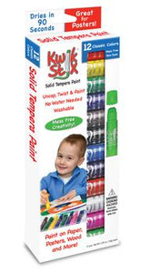 The Pencil Grip Kwik Stix Solid Tempura Paint, Set of 12 Classic Colors (TPG-602)