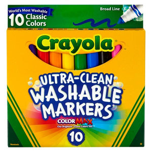 Crayola Ultra-Clean Washable Markers, 10 Pack