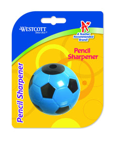 Westcott KleenEarth Soccer Ball Pencil Sharpener (Assorted Colors)