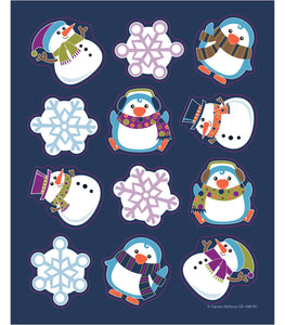 Carson Dellosa Winter Fun Snowman Stickers, Pack of 72 (CD168192)