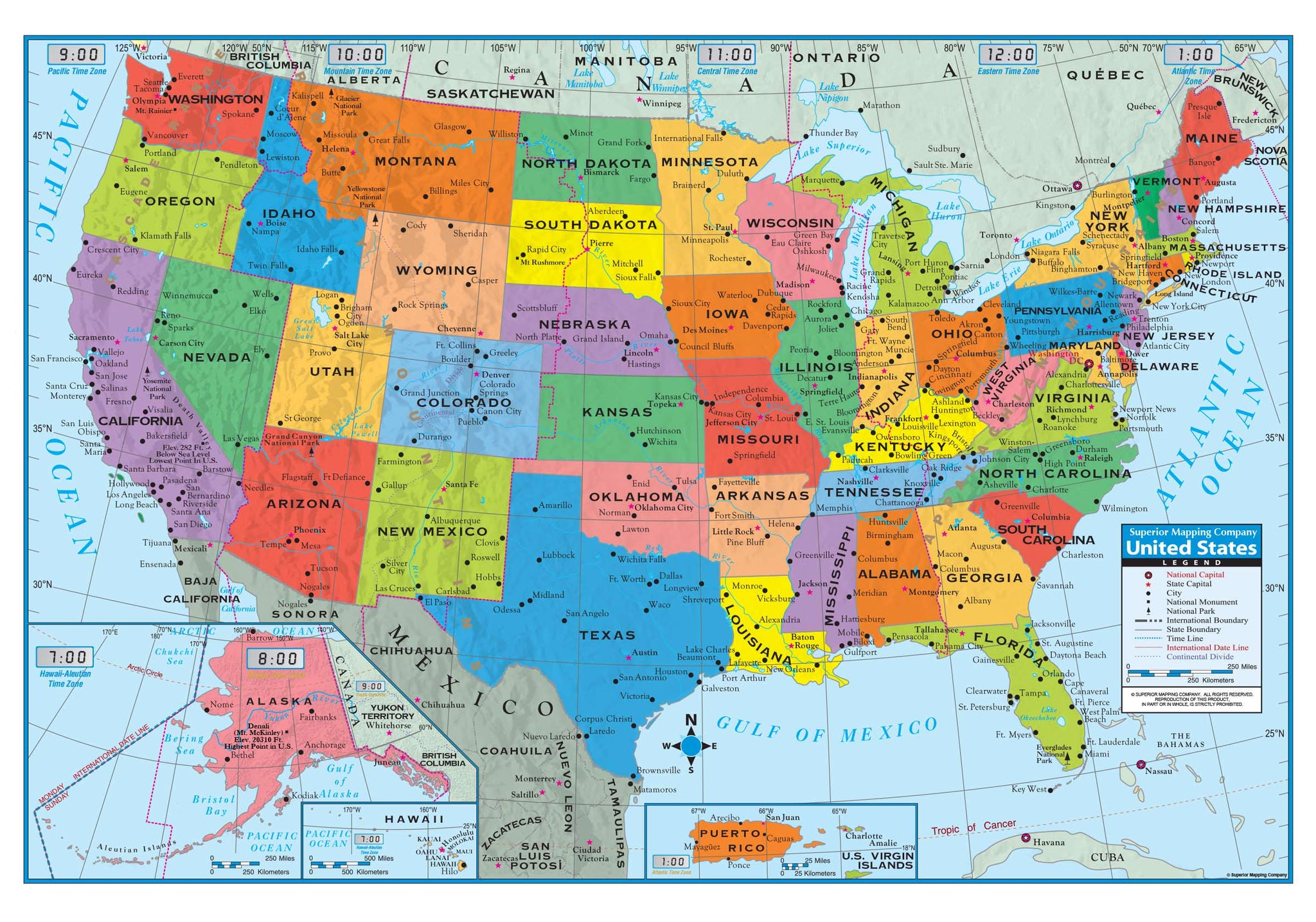 "Kappa Paper U.S. Wall Map Poster, Folded 40"" x 28"" (1712928) United States"