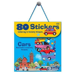 BAZIC Car Series Assorted Sticker Pack, 80 Stickers (3860)