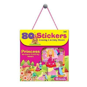 BAZIC Princess Series Assorted Sticker Pack, 80 stickers (3863)