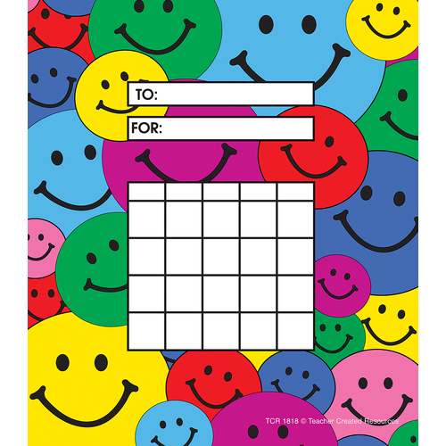 Teacher Created Smiley Faces Incentive Charts, 36 Pack (TCR 1818)