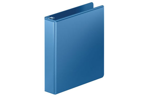 "Mead 1.5"" Ultra Duty D-Ring View Binder with Extra Durable Hinge, Blue"