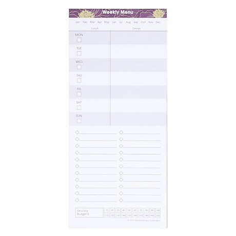 Mead for Home! Meal Planning Notepad, 60 Sheets (MHAY2138)