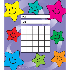 Teacher Created Smiling Stars Incentive Charts 36 Pack (TCR 1874)