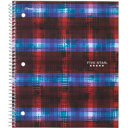 Five Star 1 Subject College Ruled Spiral Notebook, 100 Sheets (08096)