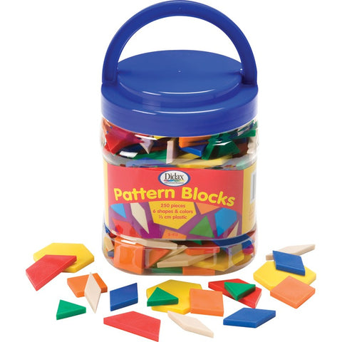 Plastic Pattern Blocks, 0.5 cm