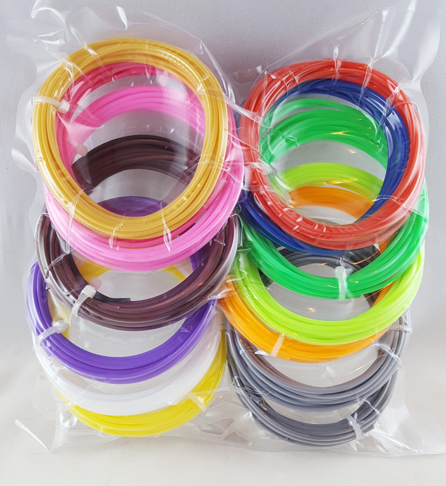 PLA 1.75mm Filament Refill Strands 3D Printer Pen 15 colors ~10 ft per color