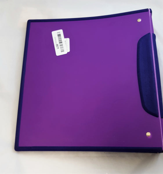 Storex DuraGrip 1.5-Inch View Binder, D-Ring, Purple and Dark Purple Cover (32585U01C)
