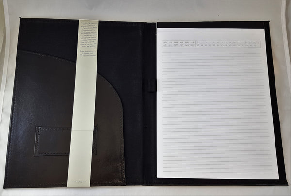 Markings by C.R. Gibson Black Bonded Leather Padfolio (MLLP-12087AZ)