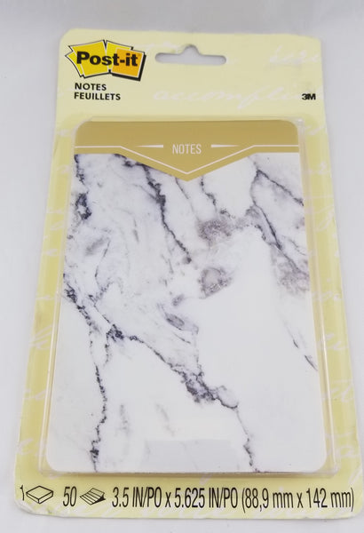 Post It Note Pad w/ Marble Cover