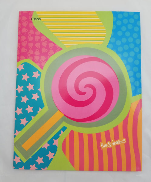 Mead Fun and Dreams Folder, 12 in by 9 3/8 in, Various Designs