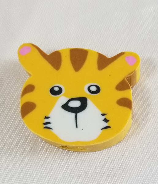 "Awesome 1.5"" Animal Eraser Tops - Tiger, Giraffe, Monkey, Fox, Bear or  Zebra"