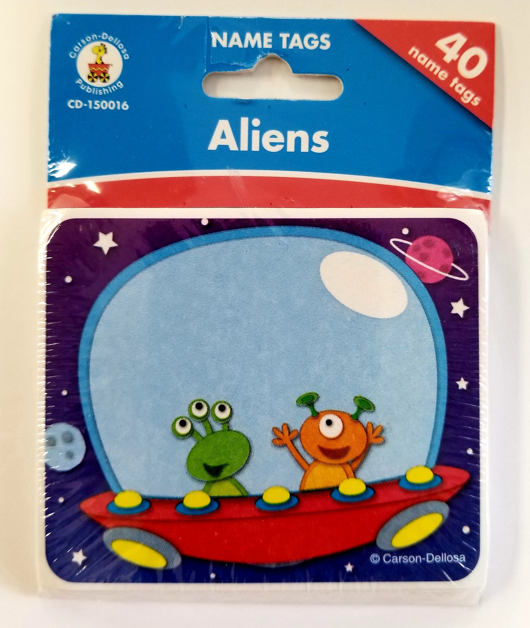 Carson Dellosa Aliens Child Nametags Labels, Set of 40  CD-150016