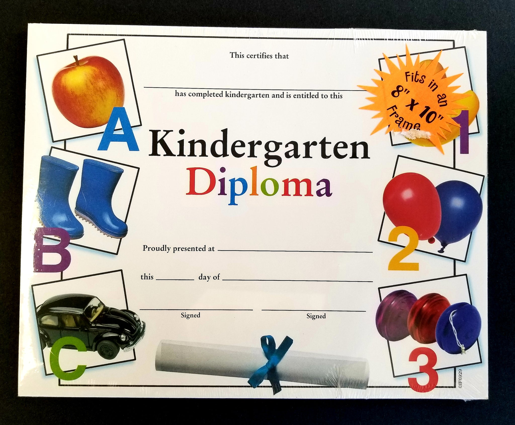 "Kindergarten Diploma Award Certificate, 8"" x 10"" Pack of 36  (IF6929)"
