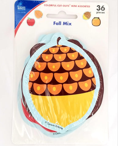 Carson Dellosa Fall Mix Bulletin Board Mini Cutouts, Pack of 36 , CD-120180