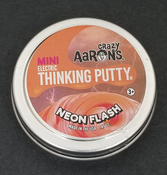 "Crazy Aaron's Mini Electric Neon Flash  2"" Thinking Putty Tin"