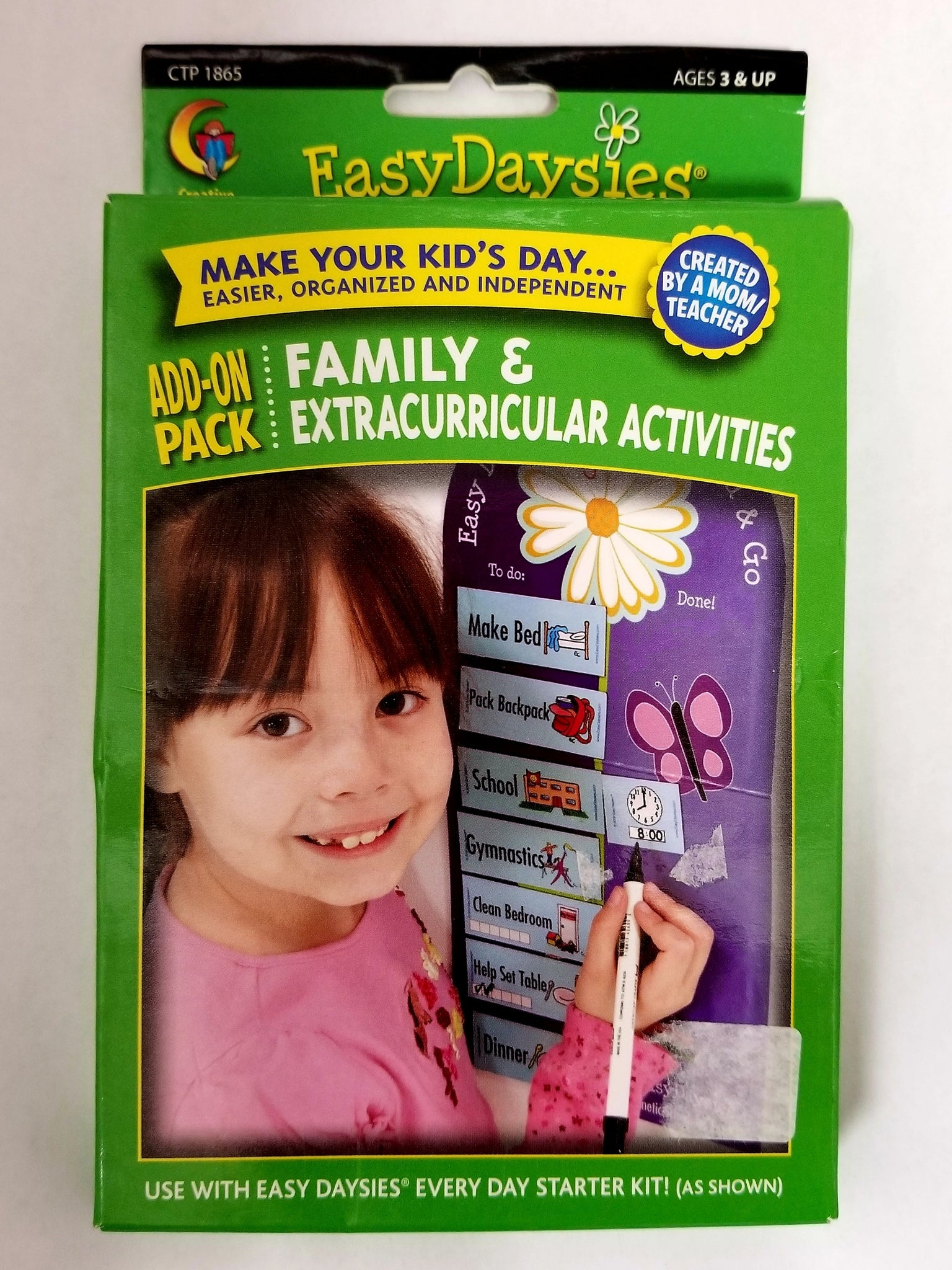 EasyDaysies Magnetic Schedule Add-On Pack Family & Extracurricular Activities (CTP 1865)