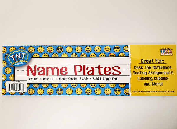 Top Notch EMOJI Desk Tags Name Plates 32/Pack (TNT-3962)