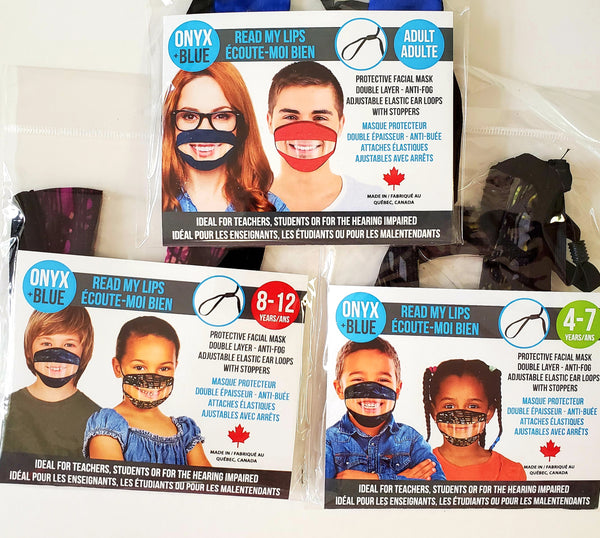 READ MY LIPS Transparent Mask JUNIOR SIZE 8-12