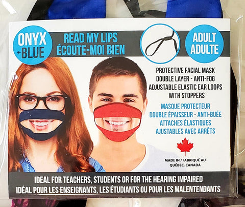 READ MY LIPS Transparent Mask ADULT SIZE