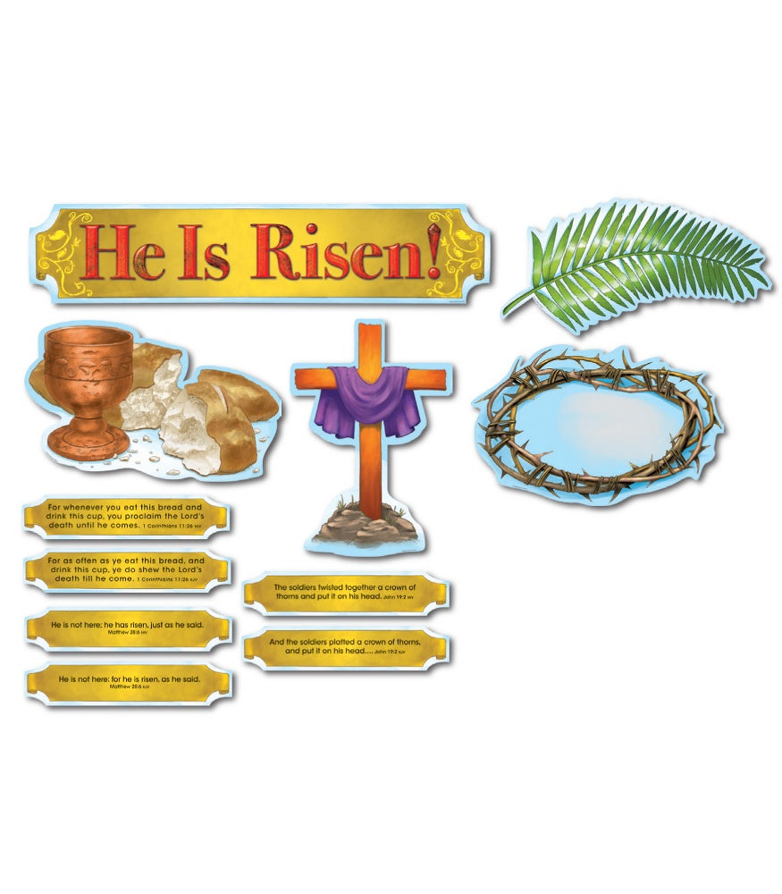 He is Risen Bulletin Board Set CD-210017