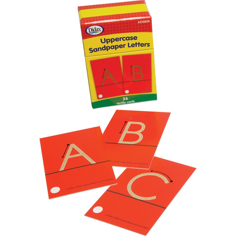 Didax Sandpaper Letters - Uppercase Set, 26 Tactile Cards (210830)
