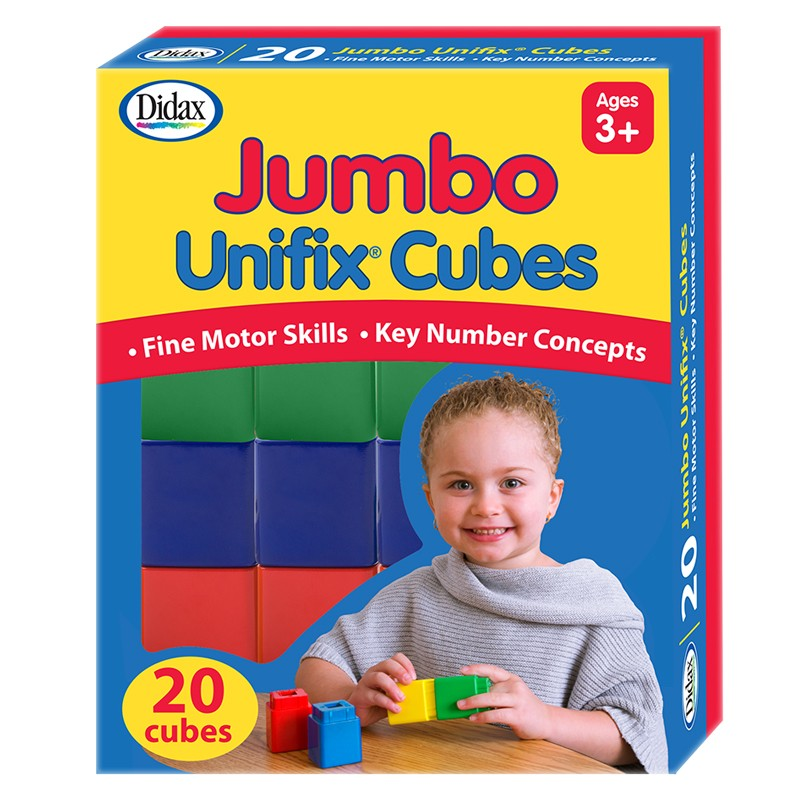 Didax Jumbo Unifix® Cubes, Set of 20 (211255)