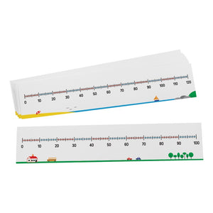 0-100 / 0-120 Number Lines, Set of 10