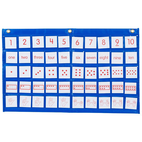 Didax Number Path Pocket Chart with Cards (211773)