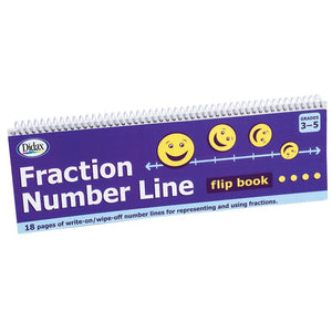 Didax Fraction Number Line Flip Book  (211791)