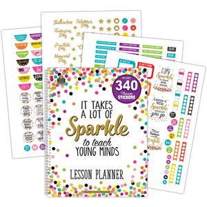 Teacher Created Sparkle Lesson Planner (TCR-2152)