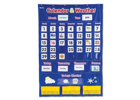 Learning Resources Calendar & Weather Pocket Chart (LER2418)