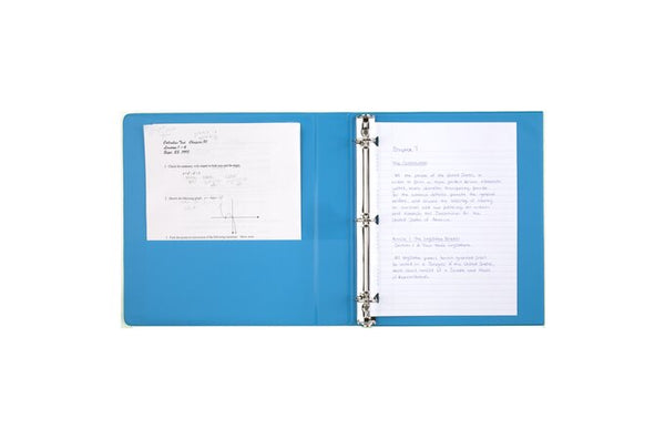 "Mead 1"" Tri-Fold Binder, Folds Flat, Avail in Blue or Purple (38868/38860)"