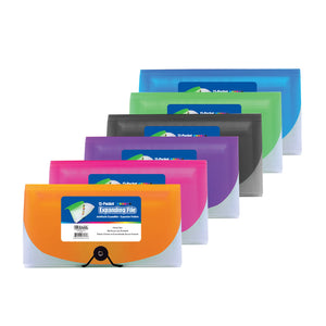 Bazic 13-Pocket Check Size Poly Expanding File Envelope (Color Variants)