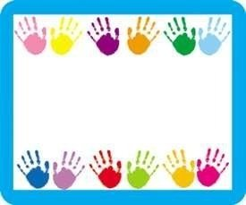 Carson Dellosa Handprints Self-Adhesive Name Tags Labels, 40 Count (CD-9413)