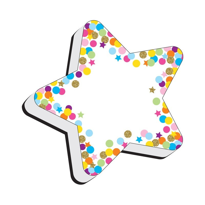 Ashley Productions STAR CONFETTI Magnetic Whiteboard Eraser (09990)