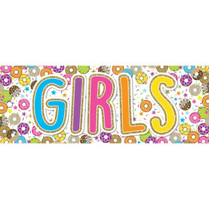 Ashley Productions® Laminated Donutfetti® Girls Pass (ASH10763)