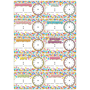 Ashley Die-cut Magnets, Dry Erase Confetti Schedule Cards (ASH19009)