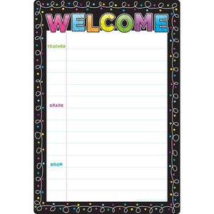 "Ashley Productions® Smart Poly® Chart Dry Erase Chalk Dots Welcome, 13"" X 19"" (ASH91083)"