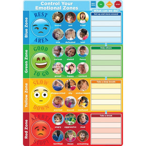 "Ashley Smart Poly® Chart CONTROL YOUR EMOTIONS 13"" X 19"" (91096)"