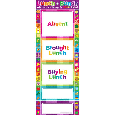 Ashley Smart Poly® Clip Chart, Lunch Bunch Count (91954)