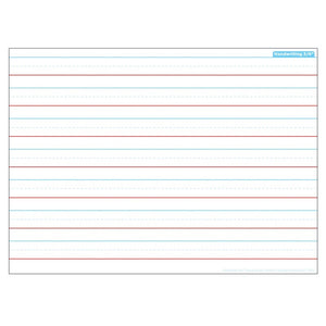 "Ashley Smart Poly® Single Sided Postermat Pals® Handwriting 3/4"", 13"" X 9.5"" (95302)"
