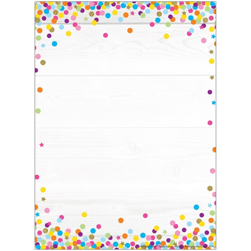 "Ashley Smart Poly® Dry Erase Mat Blank Confetti Style, 13"" X 9.5"" (95306)"